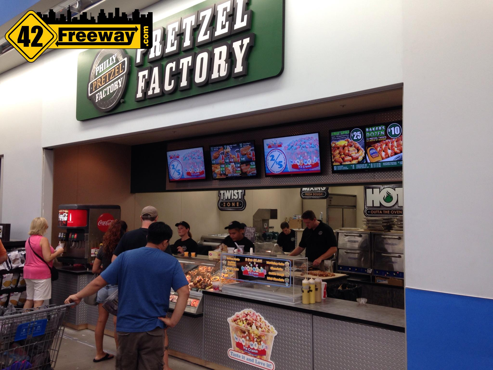pretzel factory opens in walmart deptford delsea