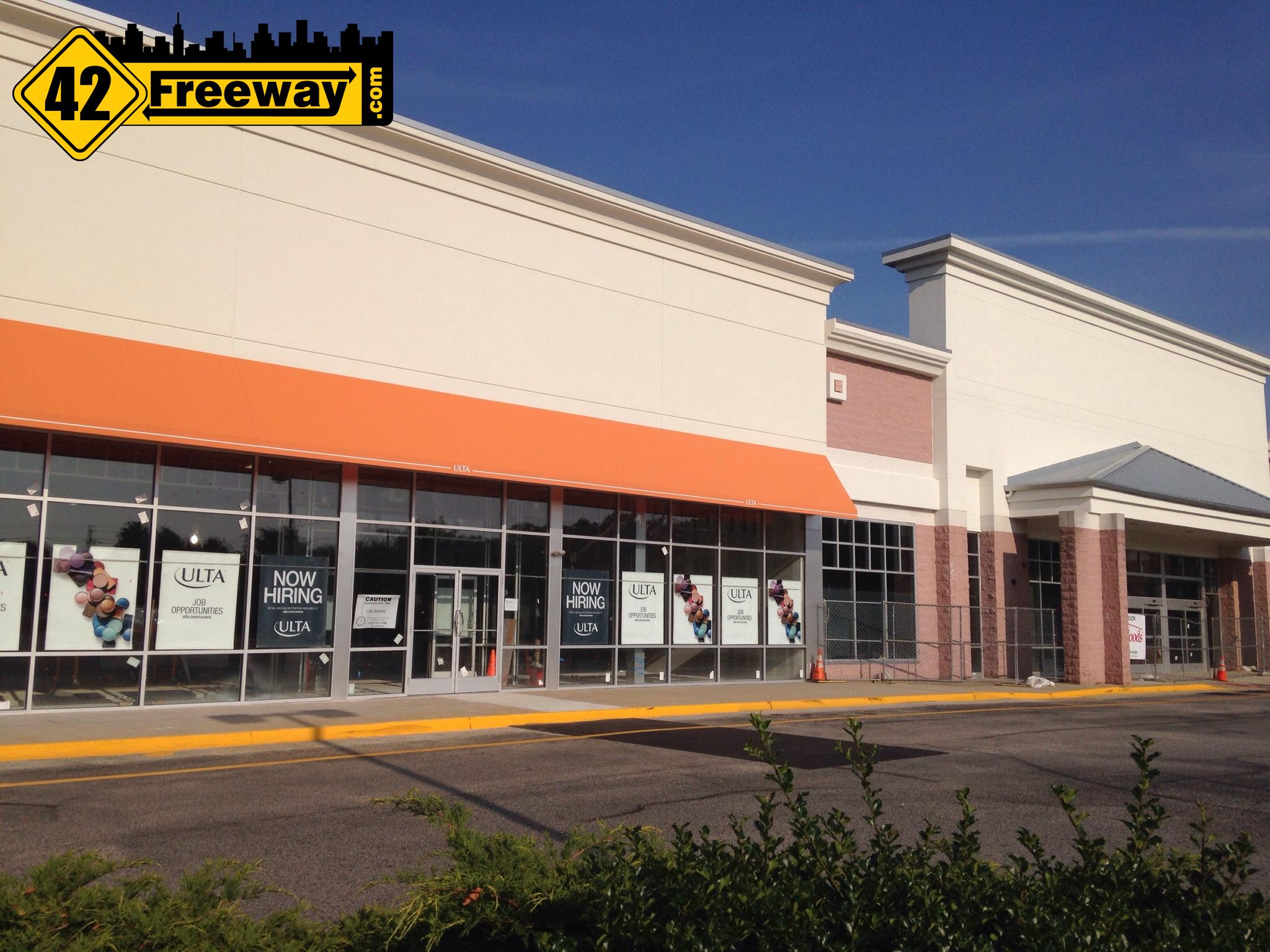 Opening Dates for Deptford's HomeGoods and Ulta stores.