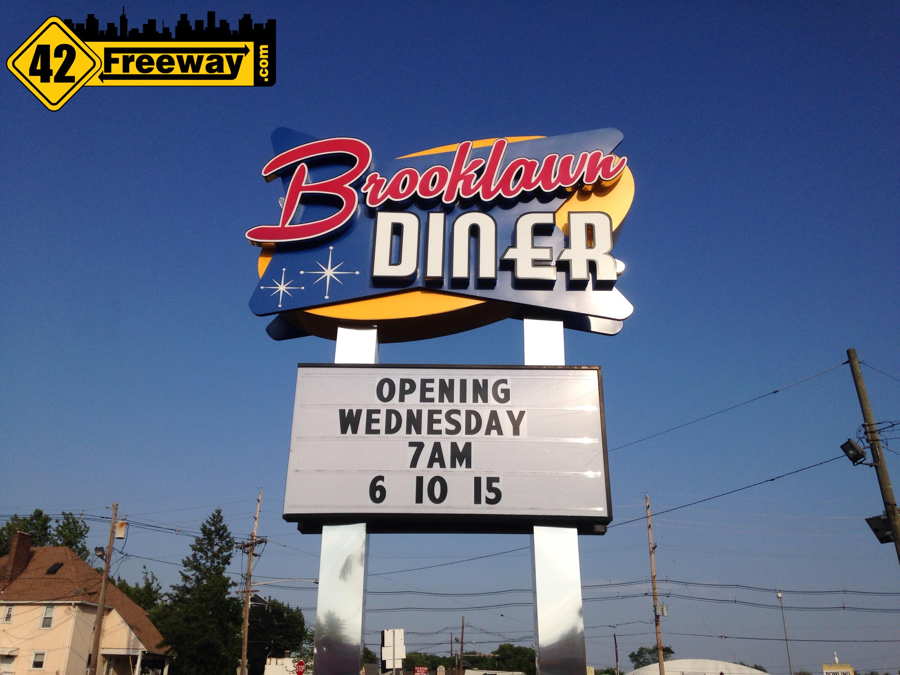 Brooklawn Diner Opens Wednesday June 10th 7am