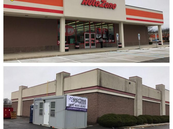 Deptford Autozone Open, Anytime Fitness Coming (Home Depot Shopping Center)