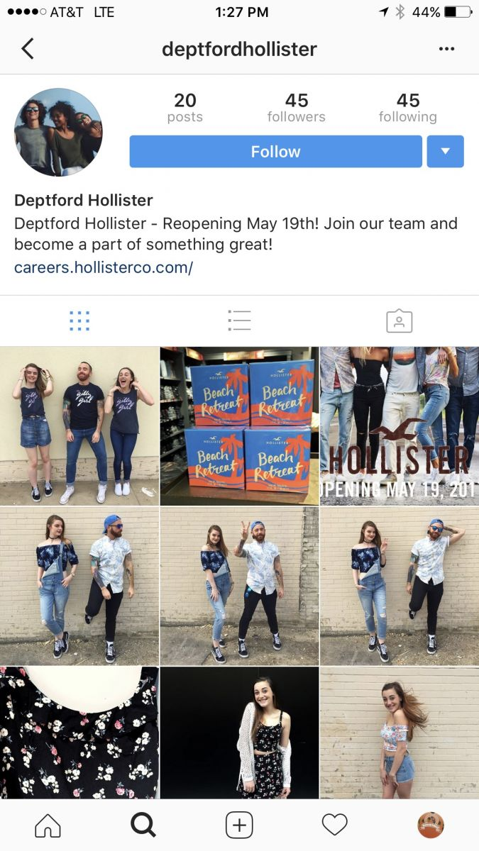 Hollister Deptford Mall Reopens May 19, 2017