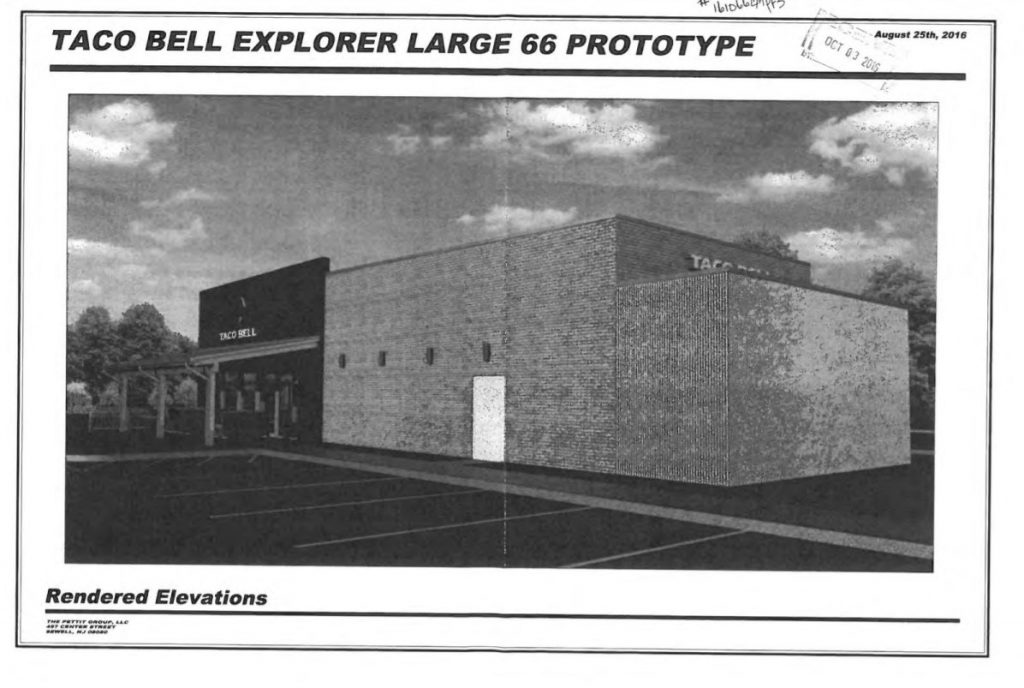 Taco Bell Explorer Rendering - Gloucester Township