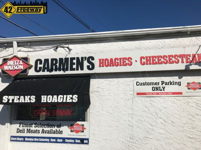 Carmen's Bellmawr:  Trying Their Cheesesteak For National Cheesesteak Day (Video)