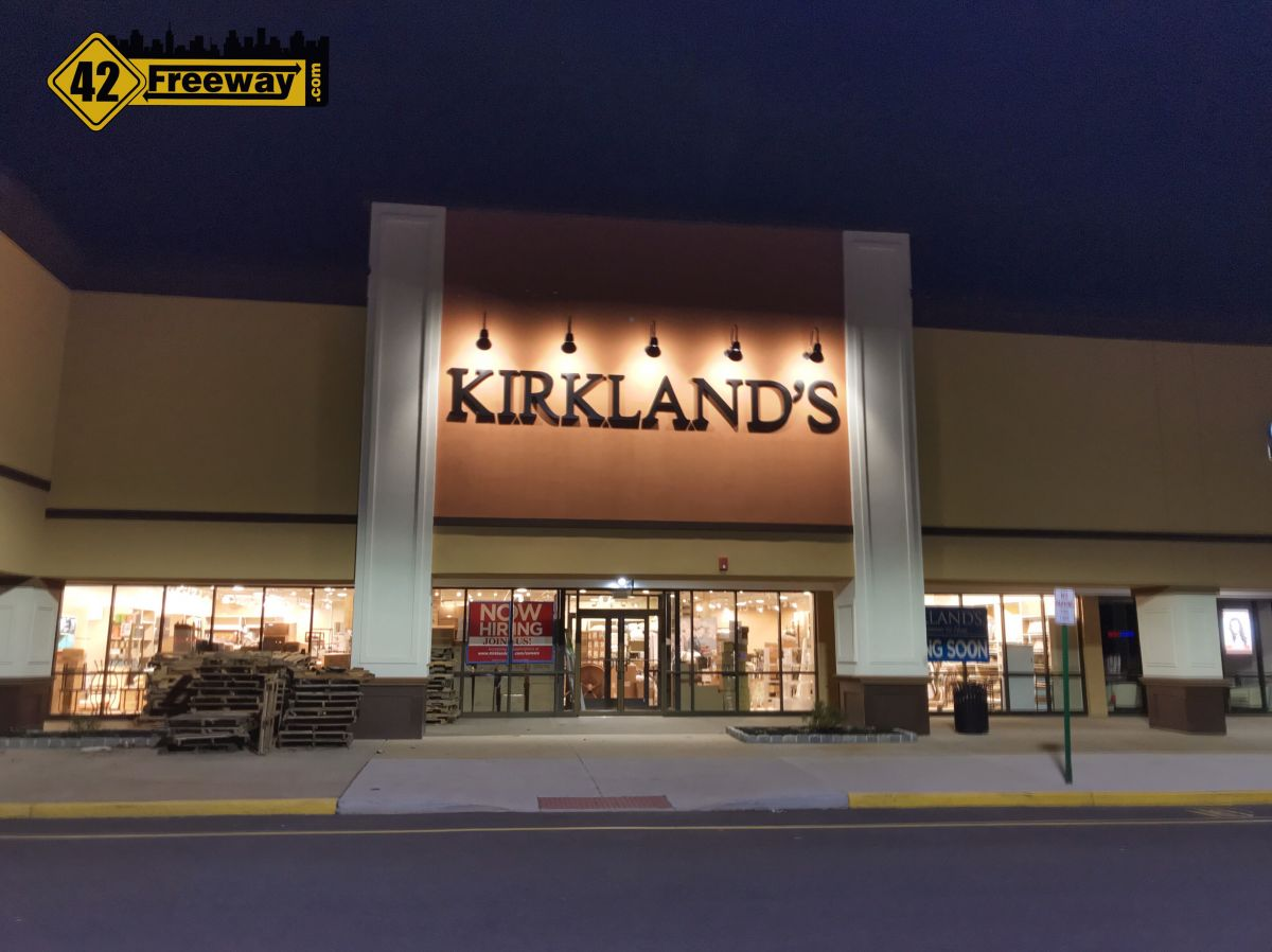 Deptford Kirkland's opens Wed April 11th.  Area is Home Décor Headquarters
