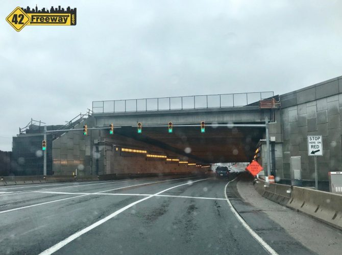 More Direct Connection Tunnel Changes:  FIVE Lanes In, Merge To Four After Tunnel
