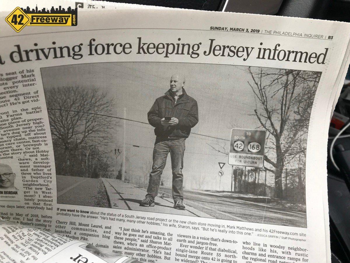 Philadelphia's Inquirer Newspaper Feature on 42Freeway and Writer Mark Matthews