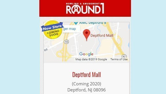 Round 1 Entertainment Center Coming To Deptford Mall In 2020!   Bowling, Arcade, Karaoke, Food And Beer!