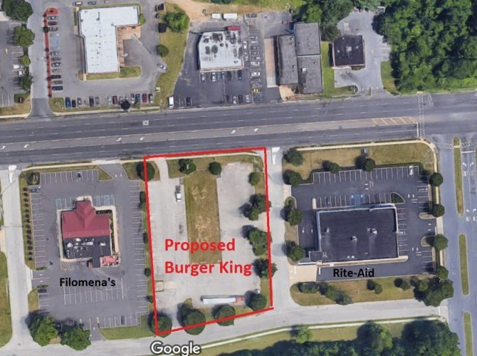 A New Burger King Building Proposed For Blackwood-Clementon Road, Between Filomena's And Rite-Aid