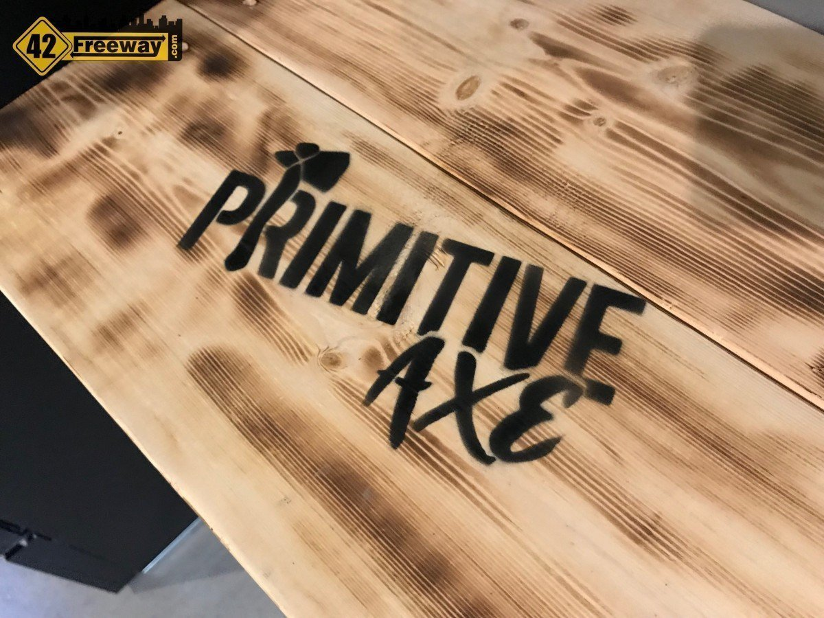 Primitive Axe Gloucester Premium Outlets Opens Friday June 7, 2019.  Video of Location and Axe Throwing!