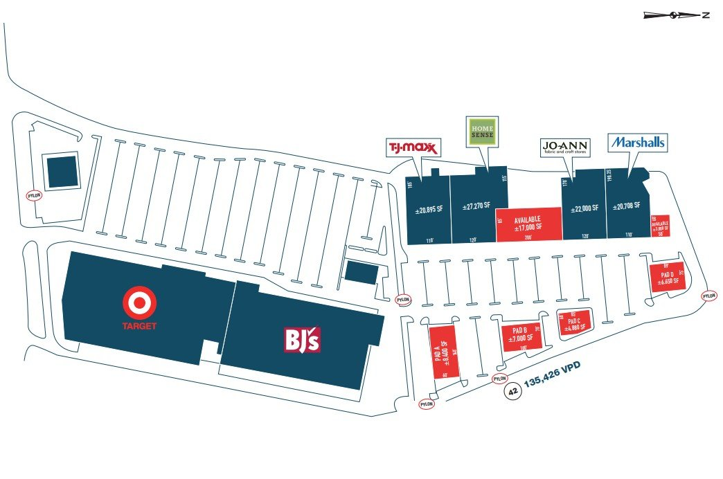 LARGE New Deptford Retail Project; TJ Maxx and Marshall's Moving.  Home Sense Coming in!  (Metro Commercial)