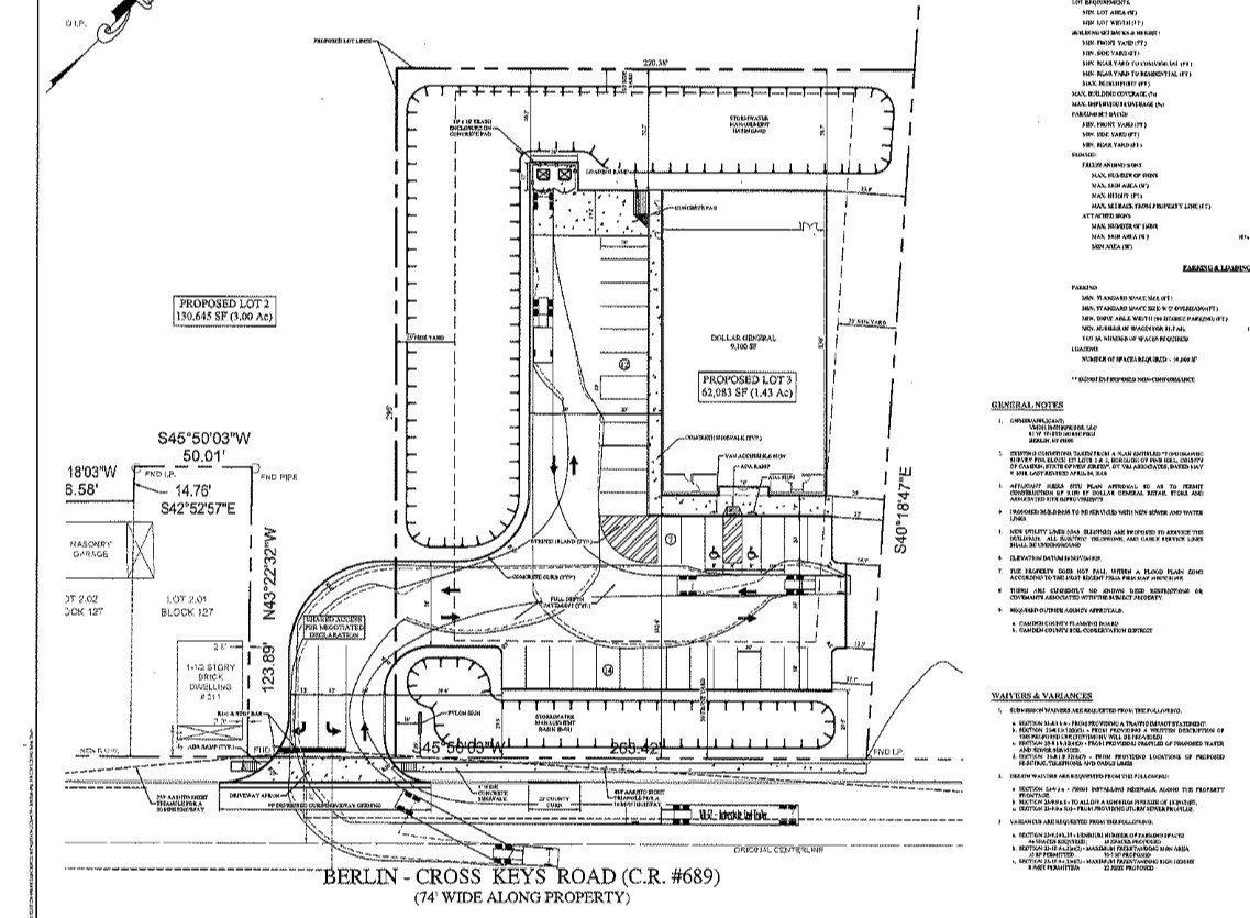 Dollar General Approved for Berlin Cross Keys Road in Pine Hill near Turnersville Road