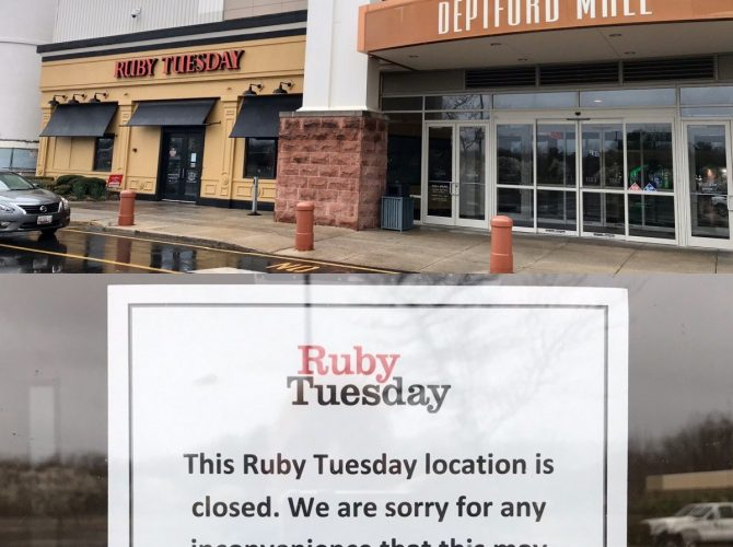 Deptford Mall's Ruby Tuesday Has Closed Today, Surprising Employees