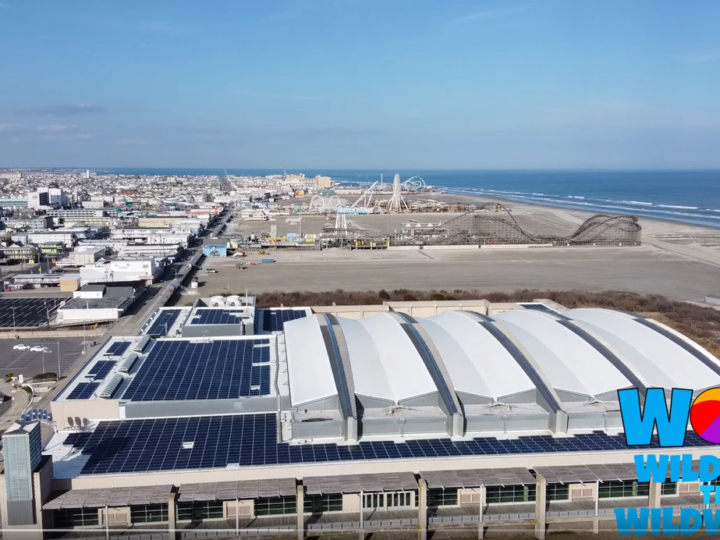 Wildwood Southend Beach and Boardwalk; Drone Video from the Convention Center To Crest Pier