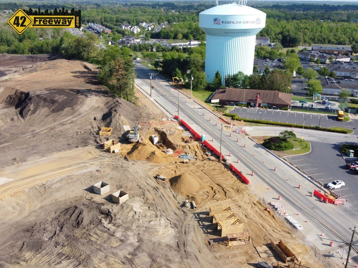 Blackwood-Barnsboro Road at 5-Points Relocation Explained in Drone Video.  Change Makes Room for new Super Wawa!