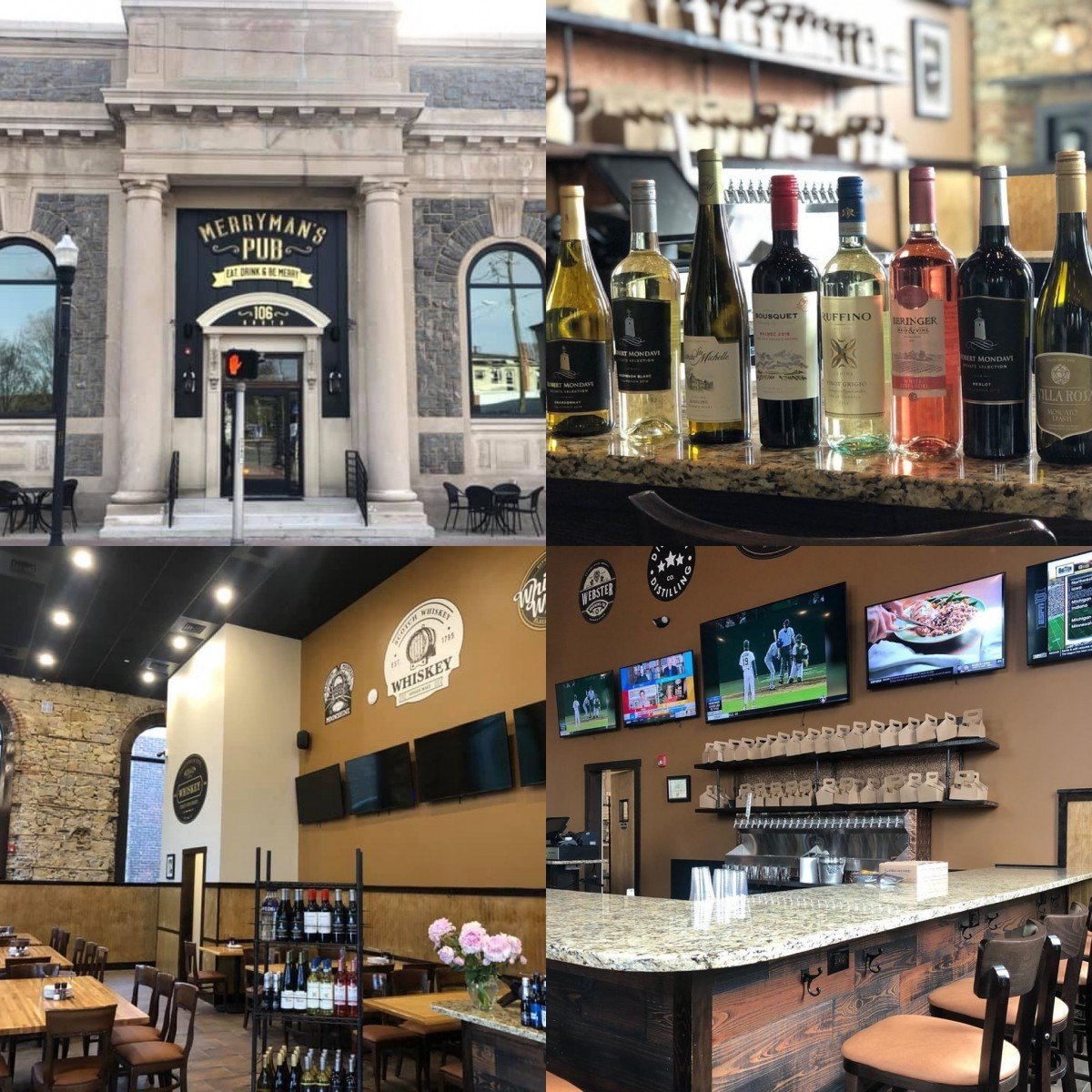Pitman's First Full Bar Has Opened!   Merryman's Pub Offering Takeout of Cocktails, Packaged Goods and Select Food Items