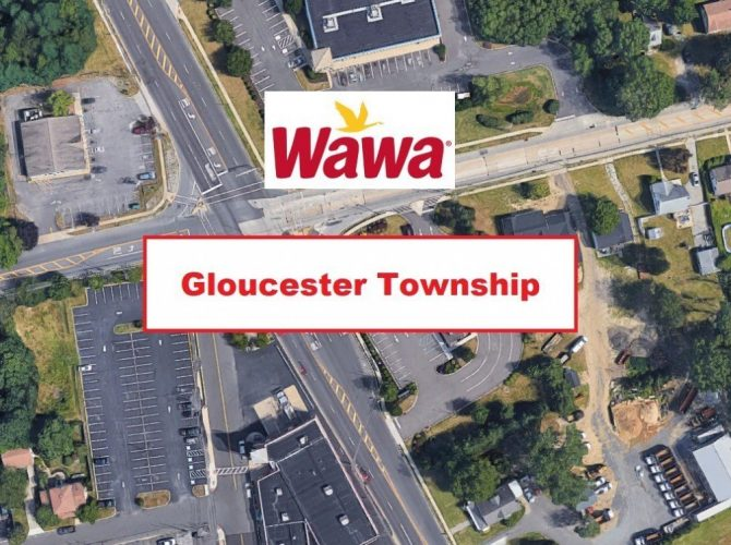 Super Wawa Planned For Erial Section Of Gloucester Township.  Replacing The Closed Bank Building