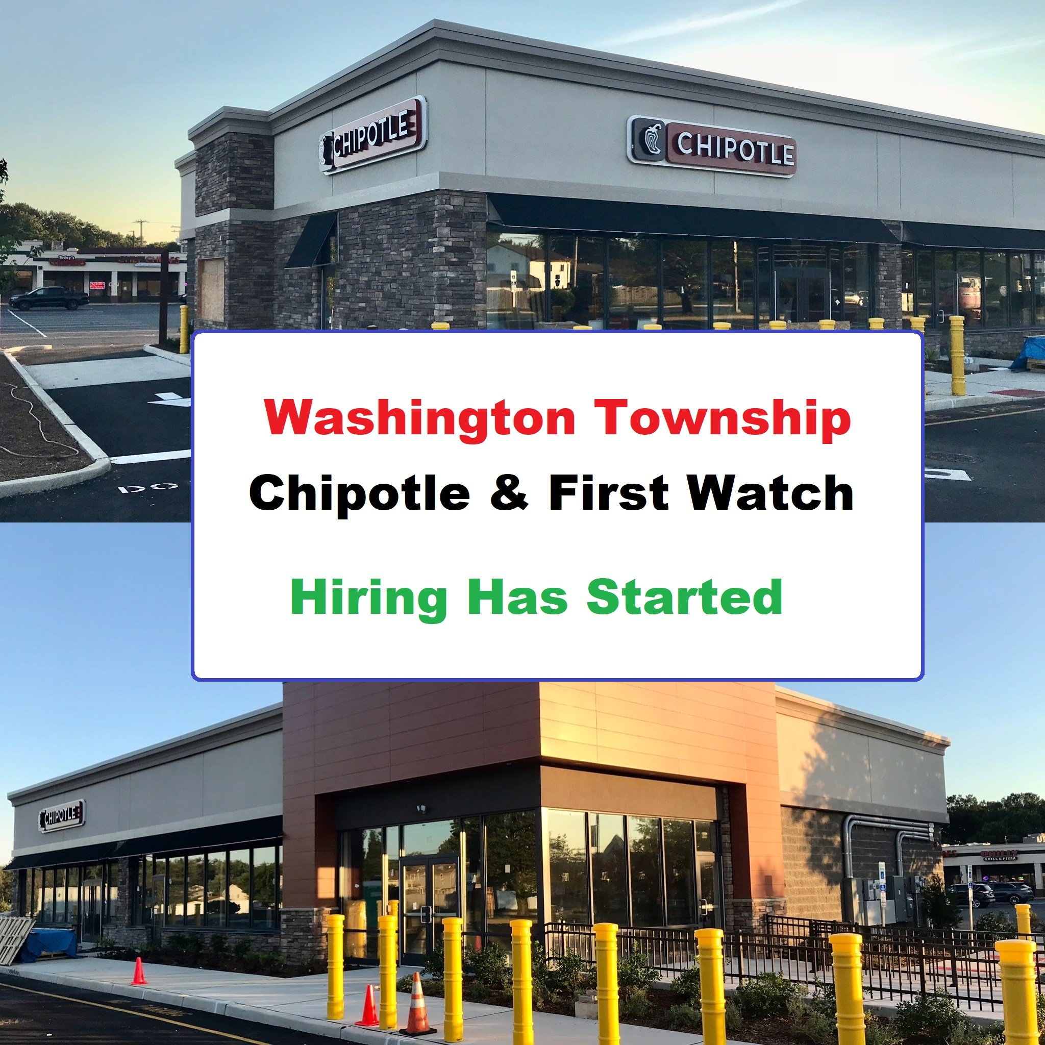Chipotle and First Watch in Washington Township are Hiring!   Job Links in Article