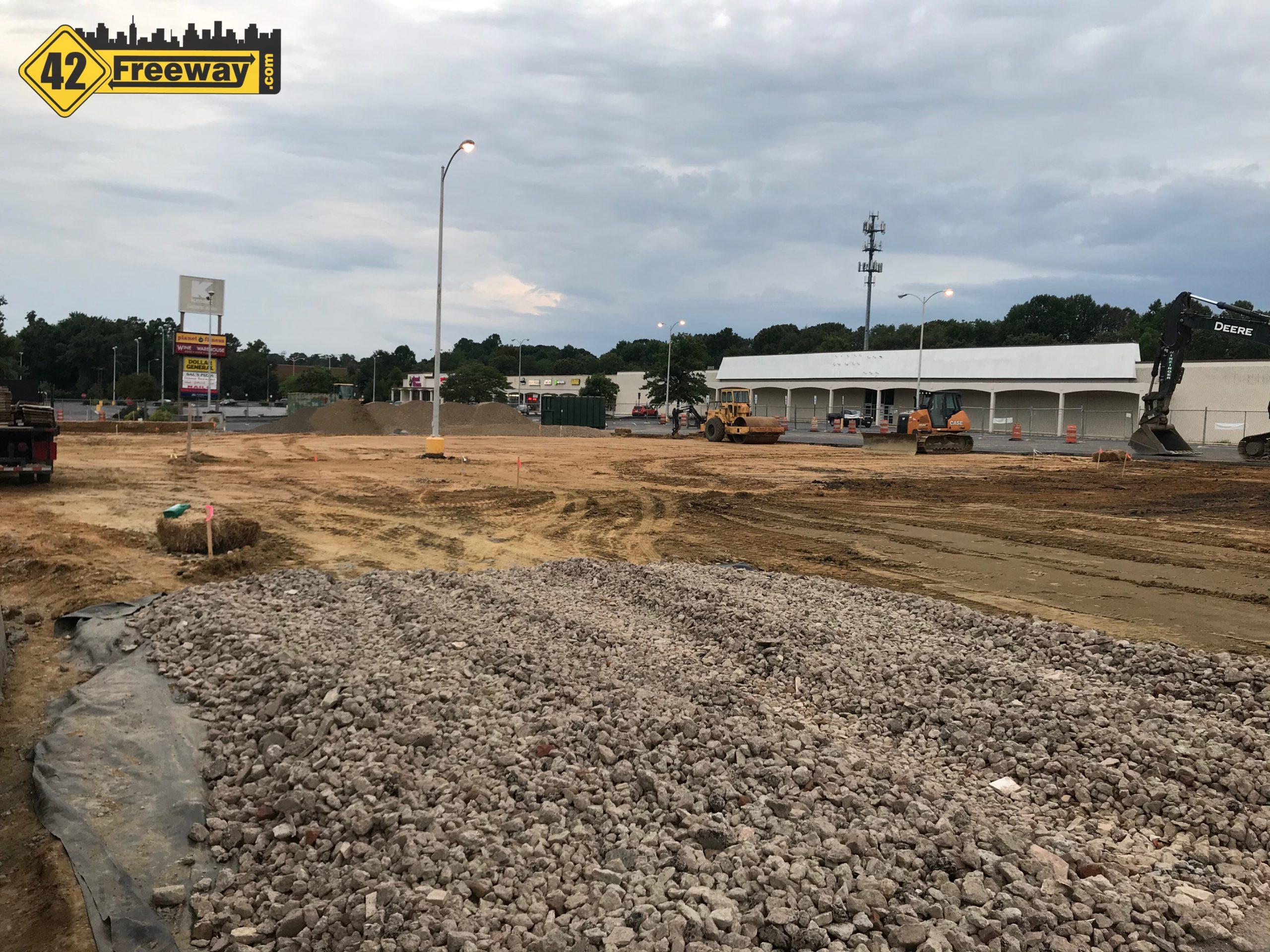 Autozone Building Construction Starts at Mantua K-Mart Parking Lot