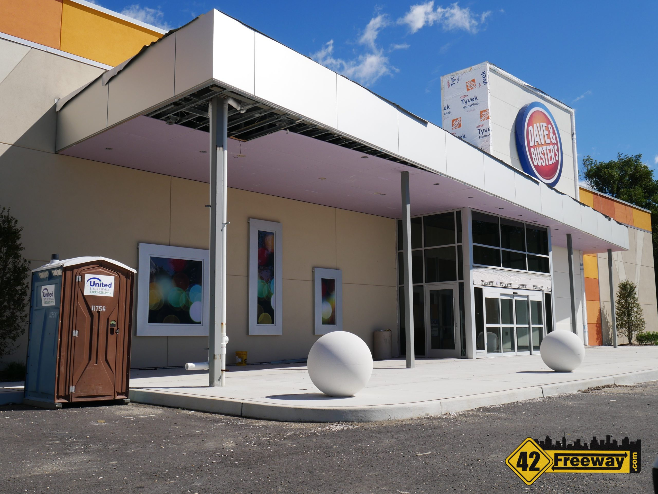 Construction Has Started Again at Dave and Busters in Gloucester Township (Premium Outlets).  We Review the Clues