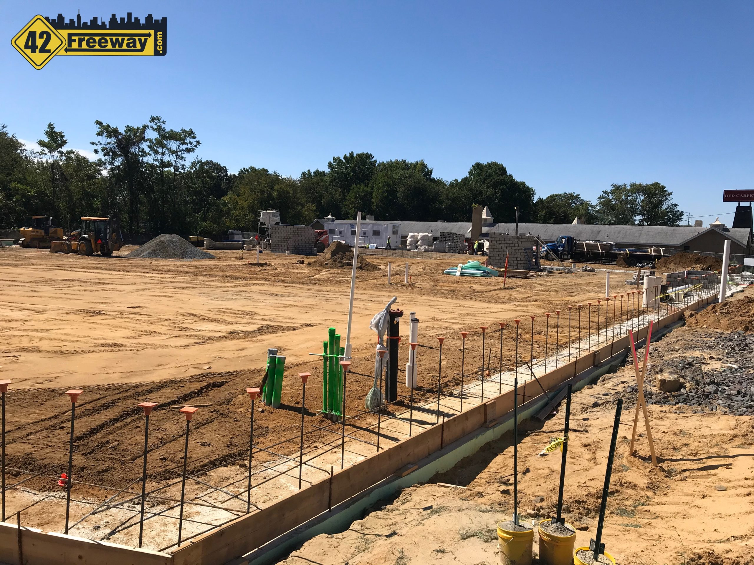 Construction Underway for Supersized Self Storage Building at the Pennant Property in Bellmawr. Three Story Building Will Fill The Lot