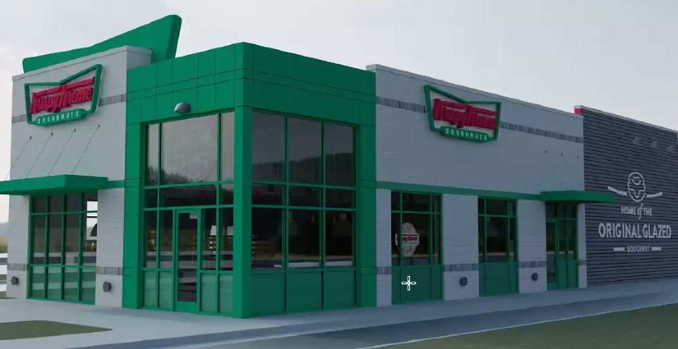 Krispy Kreme Approved For Deptford Mall Parking Lot Edge.  New Prototype Location with Full Doughnut Bakery (Photos)