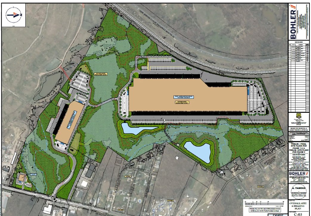 Deptford Warehouses Approved Adjacent to Kinsley Landfill.  One Million PLUS Sq Ft.  Route 41 Only Access.  Five Points Improvements