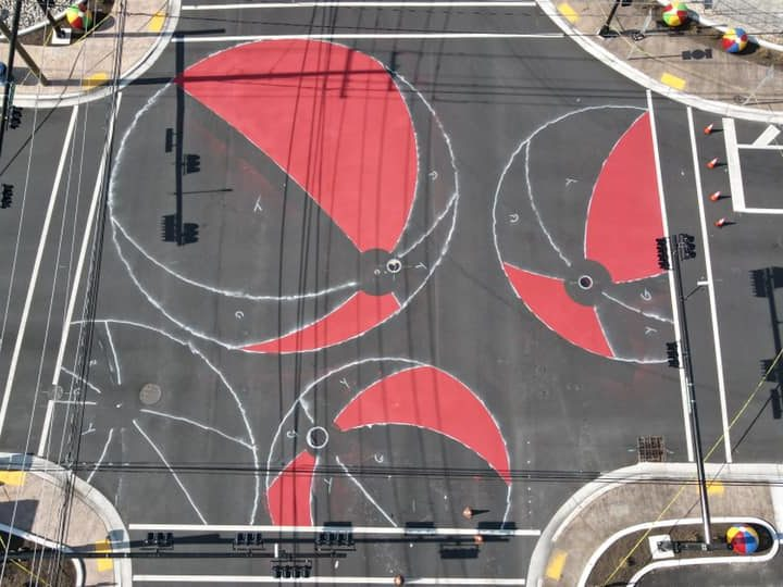 Beach Ball Paintings Are Being Added to Wildwood's Rio Grande Gateway Intersections!  (Photos in Article)