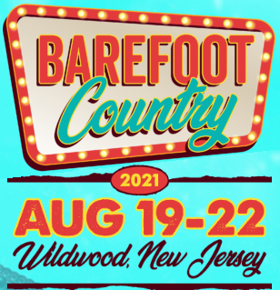 Wildwood's Barefoot Country Music Fest Aug 19-22, 2021.  Carrie Underwood, Zac Brown, Dan + Shay and More!