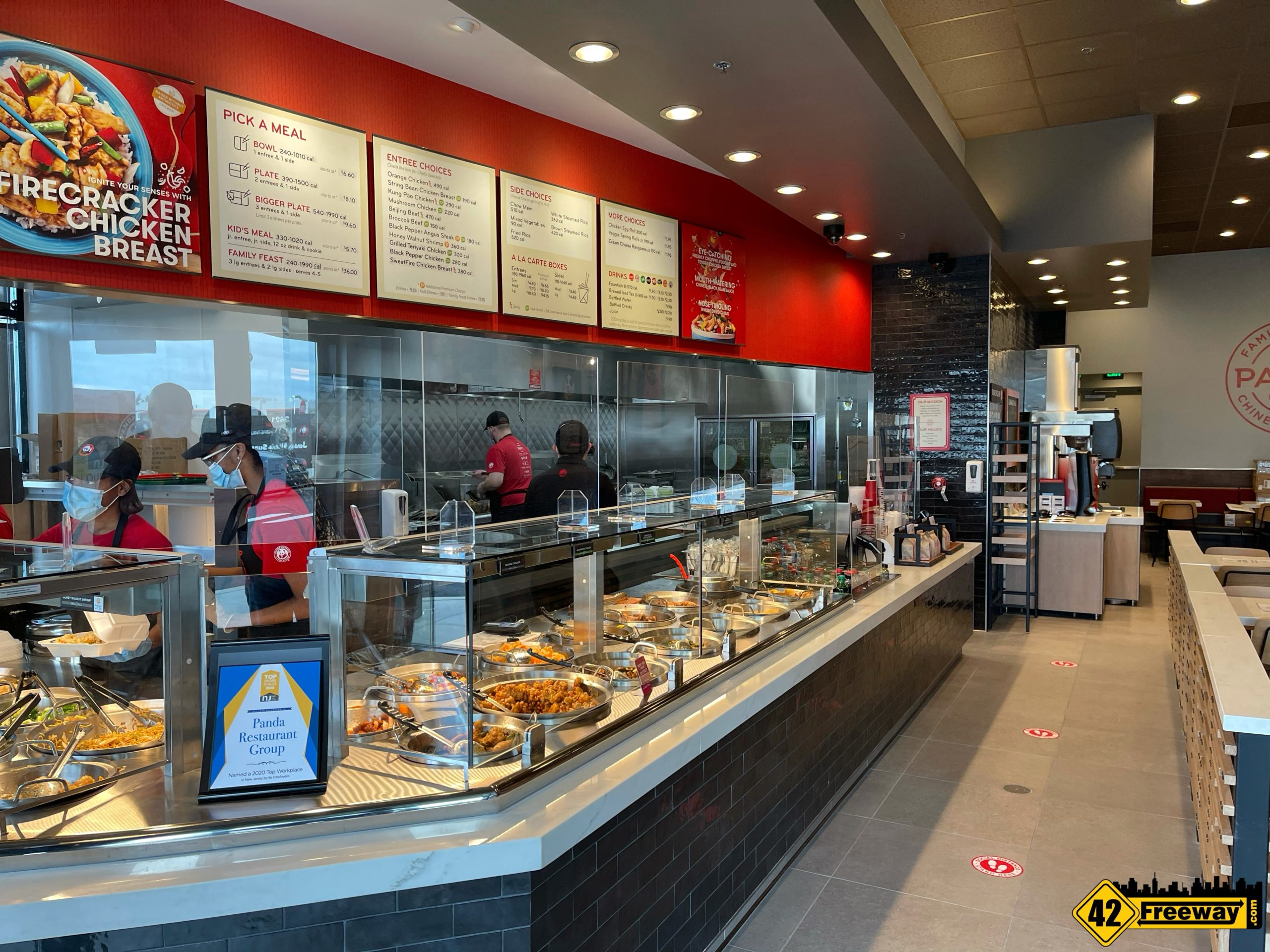 Panda Express Washington Township Is Open for Take Out and Drive-Thru.  Jersey Mike's Opened in December