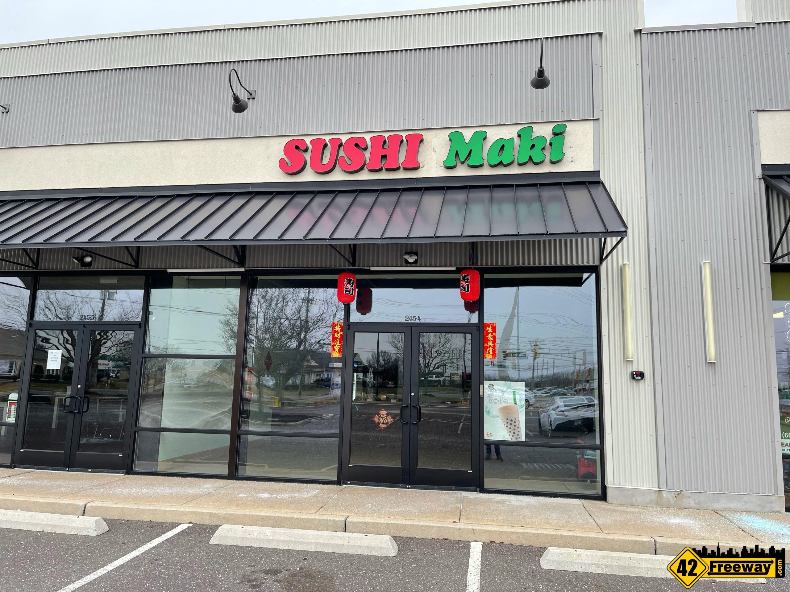 Sushi Maki Turnersville is OPEN on Fries Mill Road!  Sushi, Milk Tea and Hibachi!