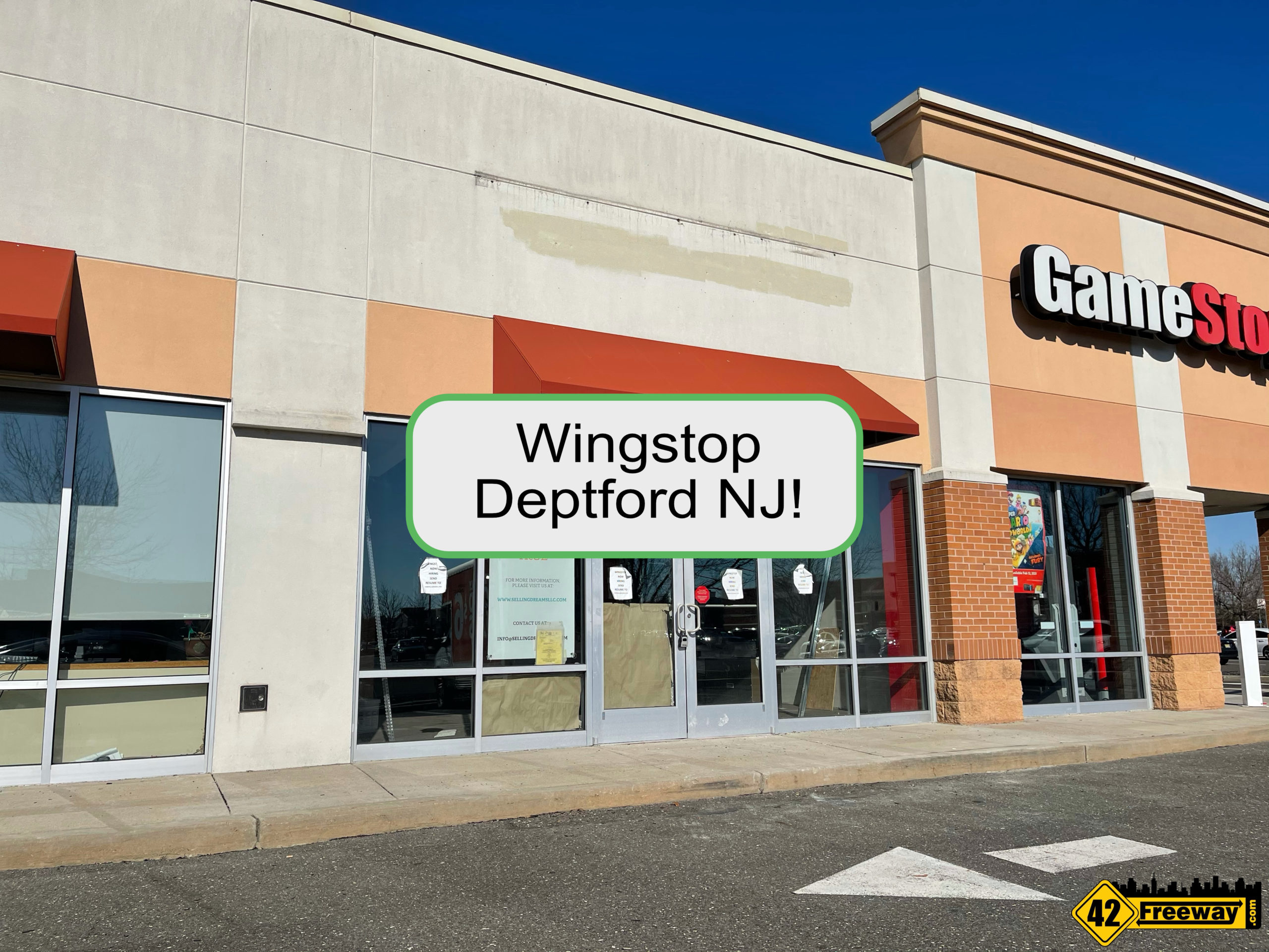 Wingstop Coming To Deptford (Sam's Club Center).  First South Jersey Location.  Jobs Posted Online