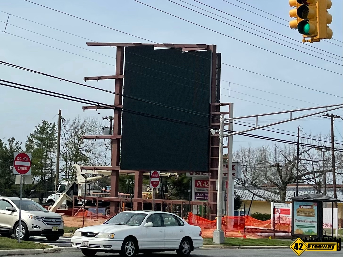 First of TWO Digital Display Ad Monuments Starts Rising In Washington Township