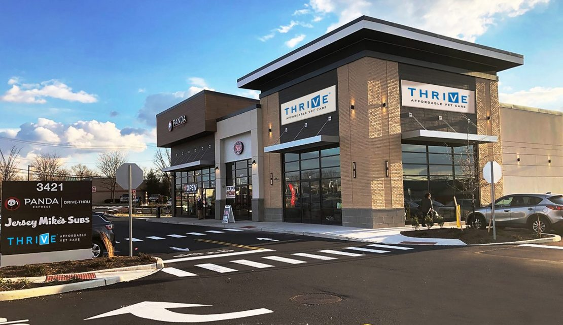 THRIVE Affordable Vet Care Coming To Washington Township!  Third Spot With Panda Express and Jersey Mike's