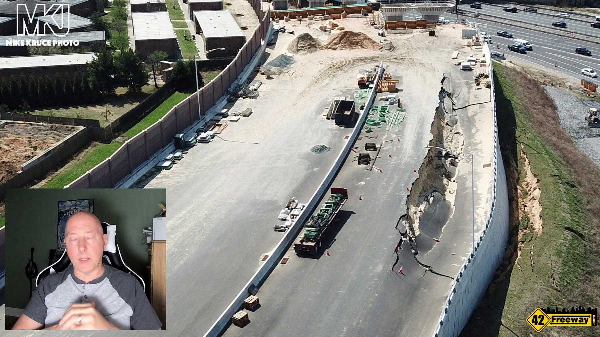 Direct Connect 295/42 Bellmawr Wall/Roadway Sinking Analysis Video, Theory and… Hey NJDOT, Whats up?