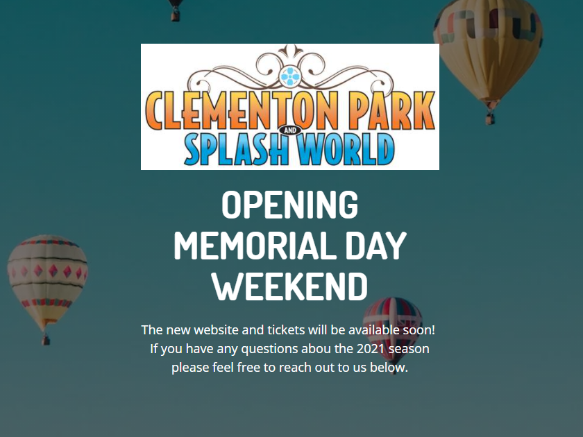 Clementon Park To Open Memorial Day Weekend!  New Website and Details Coming Soon!