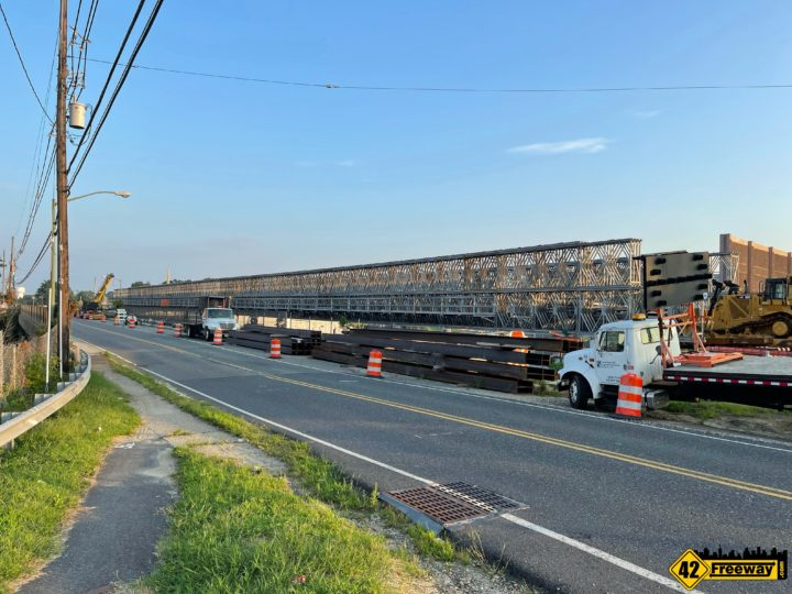 Bellmawr Browning Rd Temporary Bridge In Place.   Few More Weeks Before Traffic Uses